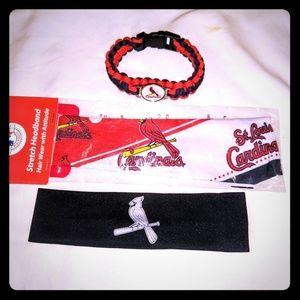 St Louis cards Headband & Bracelet Pack 3 in 1